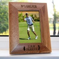 Personalised Top Golfer Engraved Photo Frame