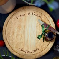 Personalised Wooden Round Chopping Board