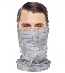 Grey World Map Snood Lifestyle Bandana