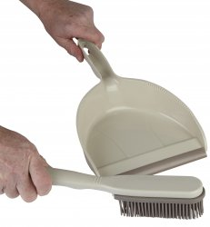 Dustpan & Rubber Brush Set