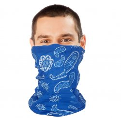 Blue Paisley Snood Lifestyle Bandana