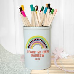 Personalised My Own Rainbow Ceramic Pot