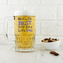 Personalised World's Best Step-Dad Tankard