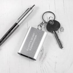 Emergency Personalised Miniature Powerbank Keyring