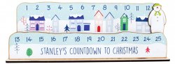 Personalised Make Your Own Snowman Christmas Advent Countdown Calendar