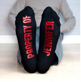 Personalised Soul Mates Romantic Socks Men's