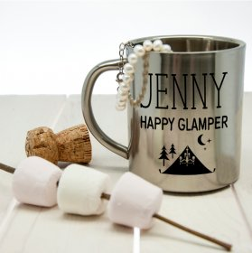 Personalised Happy Glamper Outdoor Mug