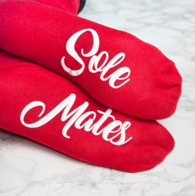 Personalised Soul Mates Romantic Socks Ladies