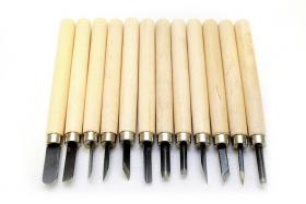 Twelve-Piece Wood Carving Set