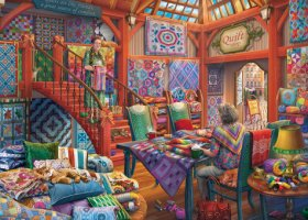 The Quilt shop 1000 Piece Jigsaw