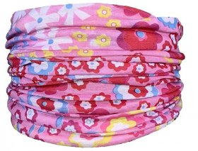 Pink Floral Snood Lifestyle Bandana