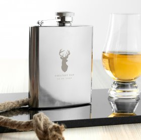 Personalised Stag 6oz Hip Flask