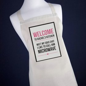 Personalised Microwave Apron