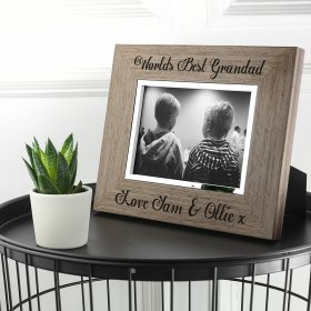 Personalised World's Best Grandad Engraved Photo Frame