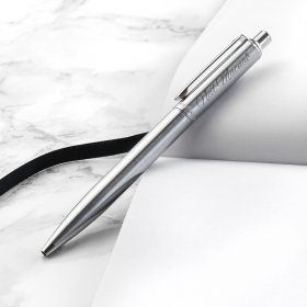 Personalised Sheaffer Brushed Chrome Pen