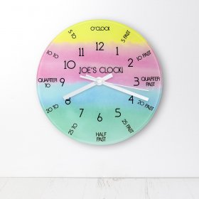 Personalised I Can Tell The Time! Wall Clock