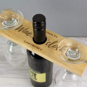 Personalised Glass and Wine Bottle Butler