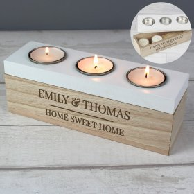 Personalised Triple Tea Light Box