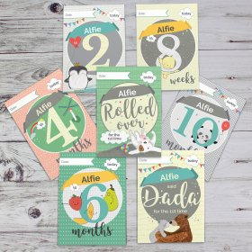Personalised Milestone Baby Cards