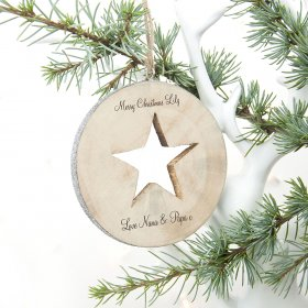 Personalised Sparkle Star Christmas Decoration
