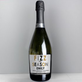 Personalised Fizz The Season Bottle of Prosecco