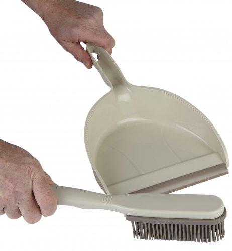 Dustpan & Rubber Brush Set