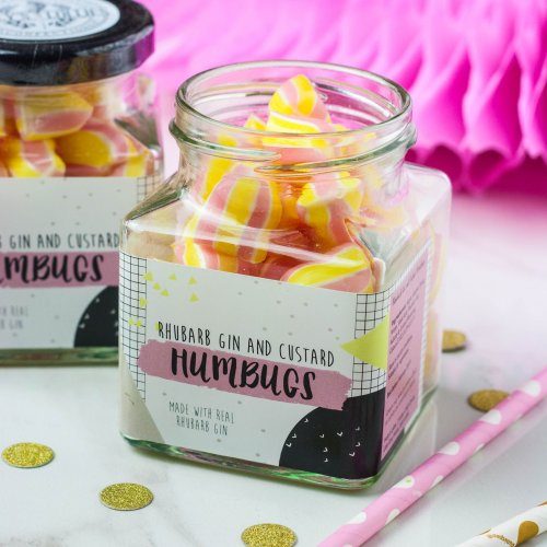 Rhubarb Gin & Custard Humbugs