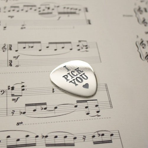 Personalised I Pick You Plectrum