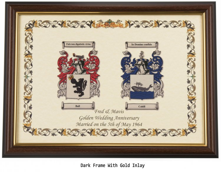 Double Coat of Arms and Surnames